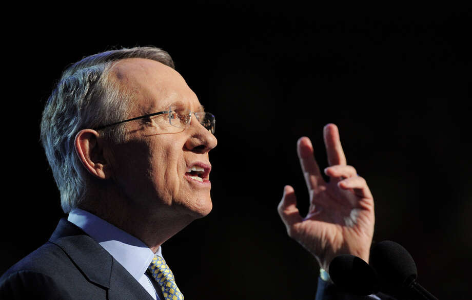 Senate Minority Leader Harry Reid endorsed his colleague from New York to suceed him as party leader. Photo: KEITH BEDFORD / Bloomberg