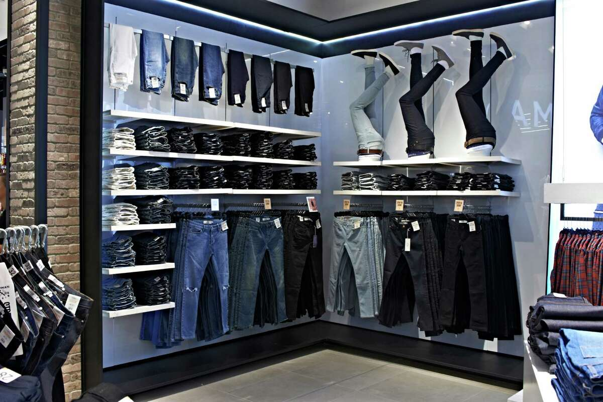 On the second level, Topman offers a variety of denim options.