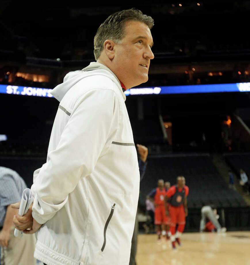 Steve Lavin's last game as St. John's coach was a second-round NCAA Tournament loss to San Diego State. Photo: Gerald Herbert / Associated Press / AP