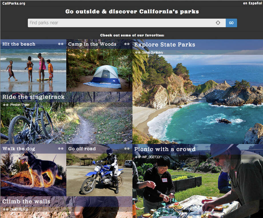 With CaliParks, visitors can use the interactive, mobile-friendly, browser-based app to discover their next adventures, share their experiences and build communities around parks. Photo: Caliparks.org / ONLINE_YES