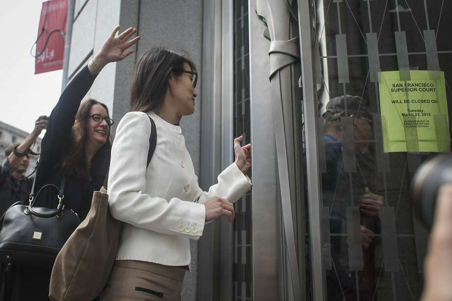 Ellen Pao arrives at the San Francisco Superior Court to her the verdict on her case on March 27th 2015. Photo: Sam Wolson, Special To The Chronicle