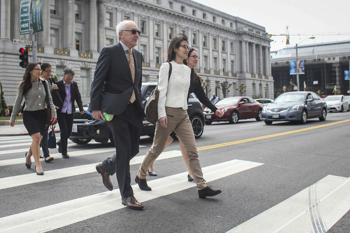 Ellen Pao arrives at the San Francisco Superior Court to her the verdict on her case on March 27th 2015.