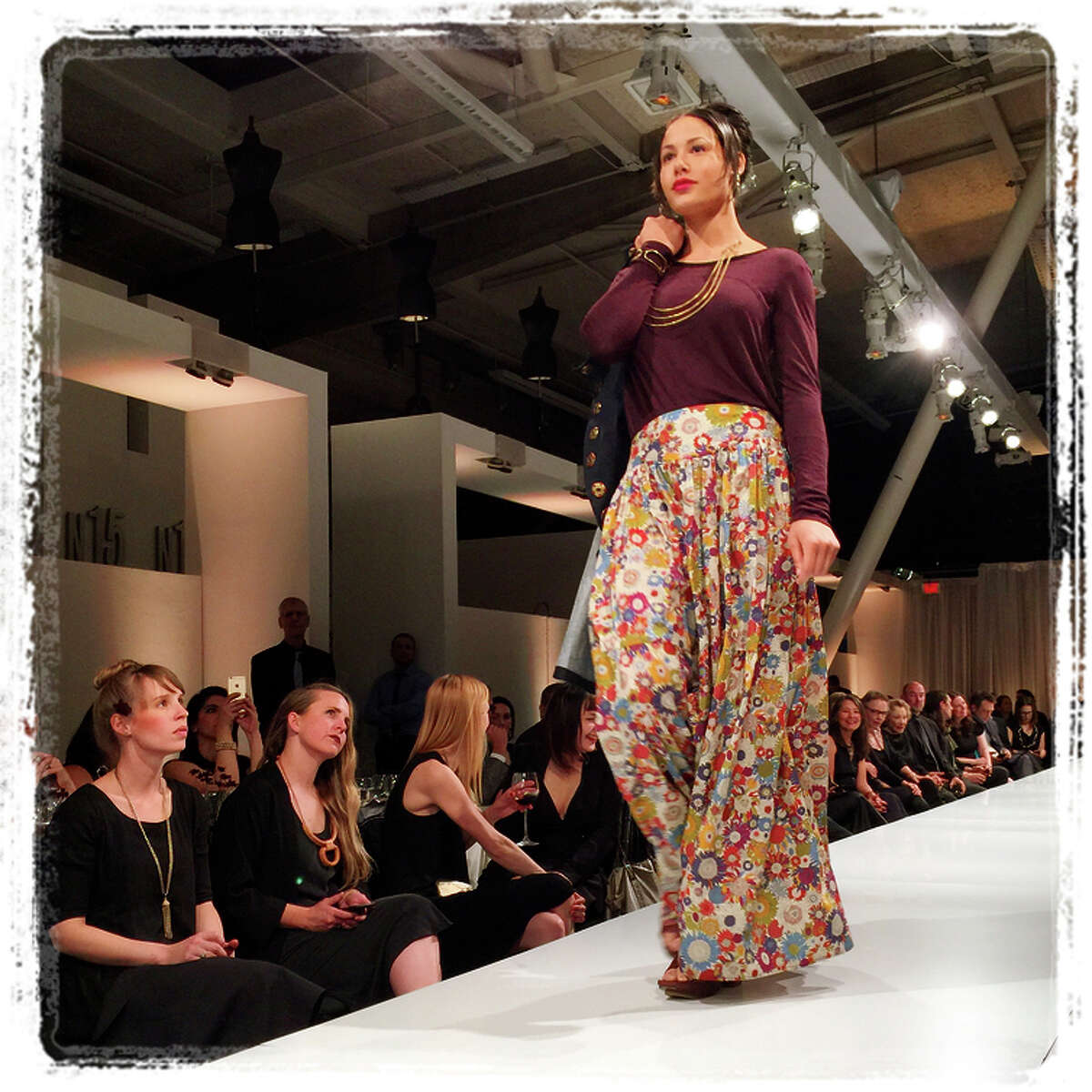 8:17 p.m. March 25: Liberty-print fabric in EssEff-centric creations by Salt owner/CCA alum Amber Clisura.