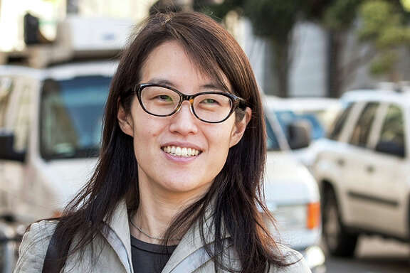 Ellen Pao, former junior partner at Kleiner Perkins Caufield & Byers, exits state court in San Francisco, California, U.S., on Wednesday, March 25, 2015. After two days of closing arguments, a month of finger-pointing testimony from both sides, the day of reckoning for the venture capital firm Kleiner Perkins Caufield & Byers has finally come in the sex-bias trial that has gripped Silicon Valley. Photographer: David Paul Morris/Bloomberg *** Local Caption *** Ellen Pao