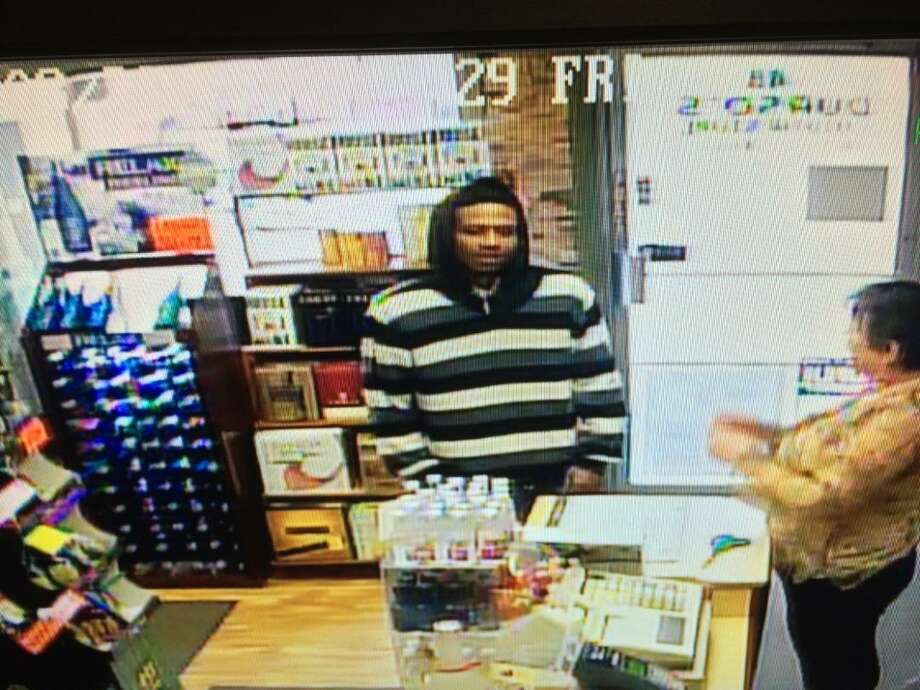 Cohoes police released this image in their investigation of a March 27 robbery at Durso's Liquor Store. (Provided)