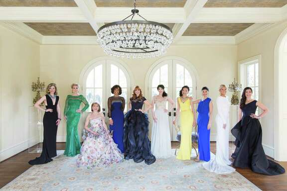 The Houston Chronicle 2015 Best Dressed honorees, from left to right: Katie Mattingly Brass, Carol Linn, Denise Bush Bahr, Gina Gaston Elie, Gracie Cavnar, Kelli Cohen Fein, Duyen Huynh Nguyen, Kristy Bradshaw, Allie Fields and Cynthia Petrello