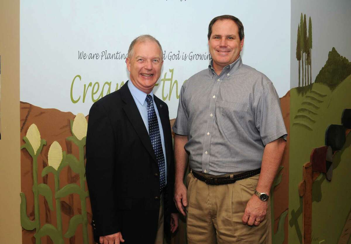Family Hope launch director Pastor Dale Olson, left, and River Bend Baptist Church Pastor John C. Crowe are active supporters of the new social service program.