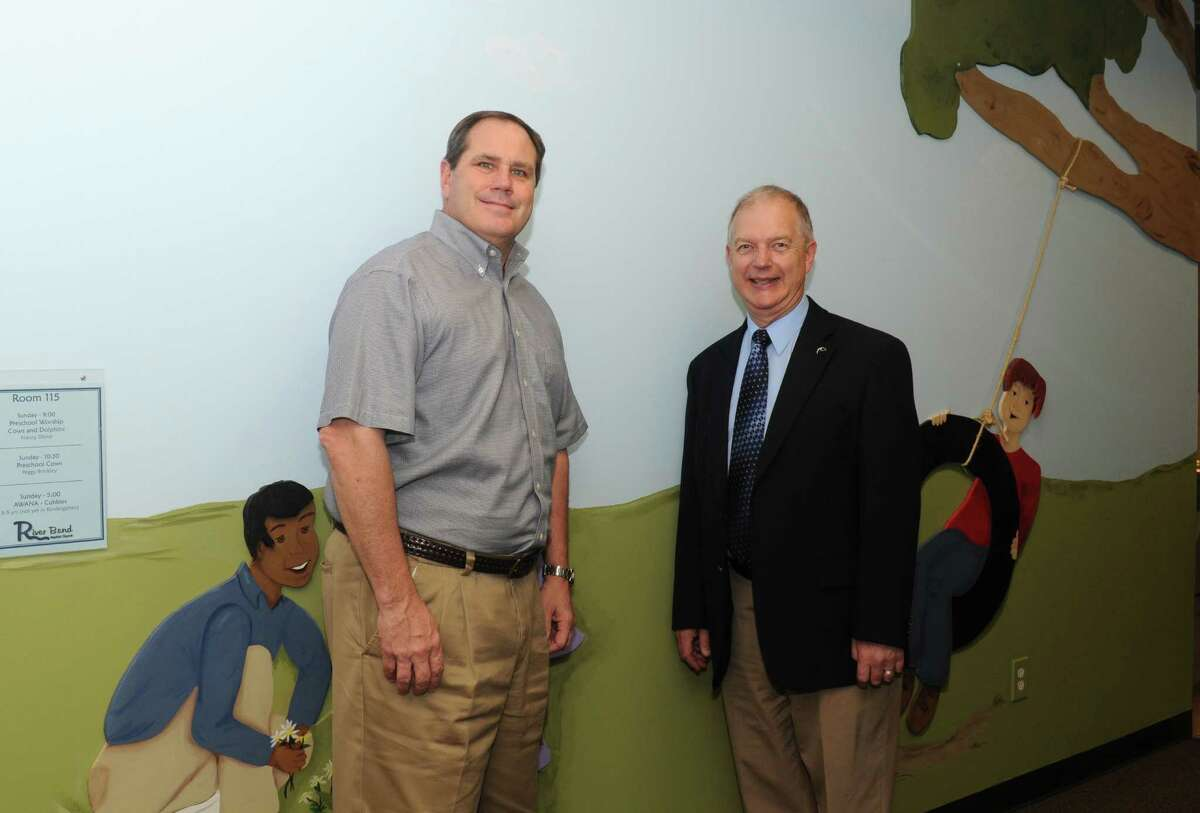 Family Hope launch director Pastor Dale Olson, right, and River Bend Baptist Church Pastor John C. Crowe are active supporters of the new social service program.