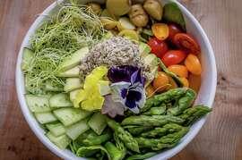 "The ""tuna"" salad with mock tuna at Nourish in San Francisco."