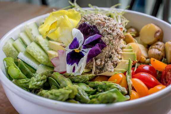 "The ""Tuna "" salad with mock tuna at Nourish in  San Francisco, Calif., is seen on March 27th, 2015."