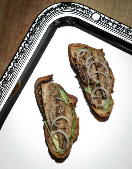 Bruschetta with avocado and anchovies. Photo: Russell Yip / The Chronicle / ONLINE_YES