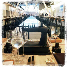 Event designer  Stanlee Gatti's decor expertly sews together the theme of CCA's fashion show.