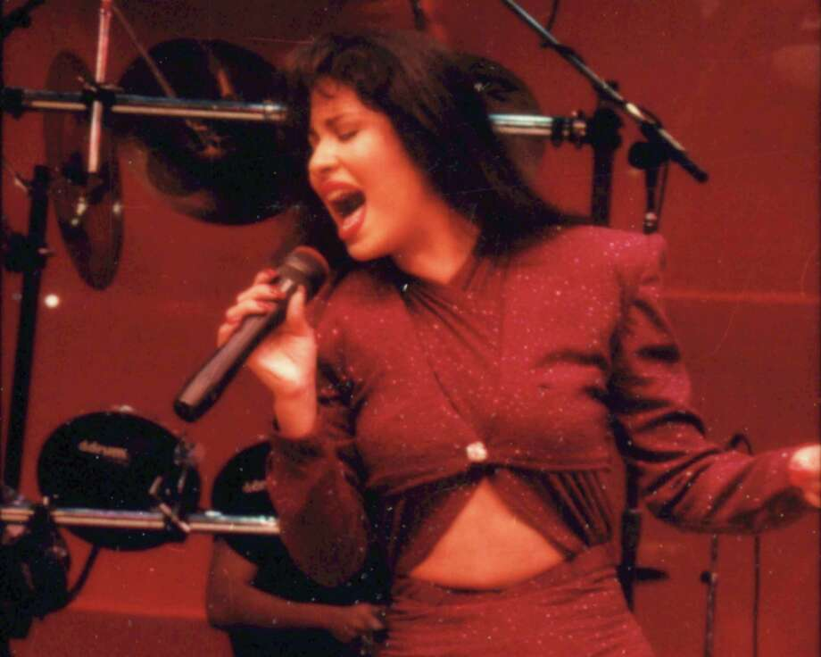 Tejano singer Selena performs at the Astrodome during the1995 Houston Livestock Show and Rodeo. Photo: John Everett, HC Staff / Houston Chronicle
