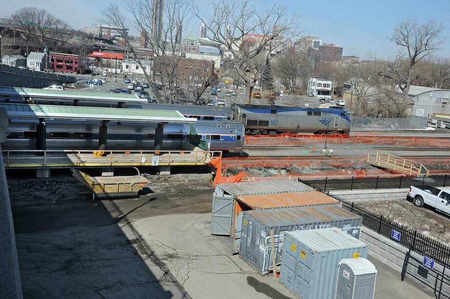 Progress continues on platform extensions at the Rensselaer Amtrak station Wednesday, March 25, 2015 in Rensselaer, N.Y. (Lori Van Buren / Times Union) Photo: Lori Van Buren / 00031163B