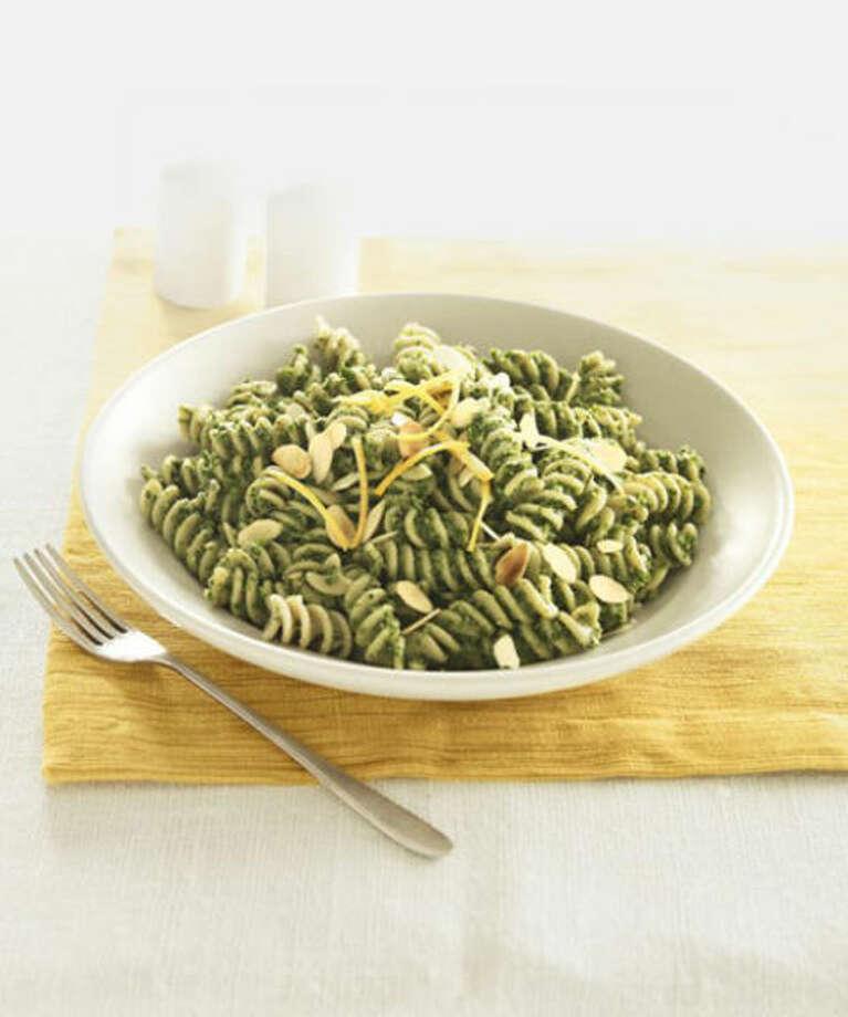 Broccoli Pesto & Fusilli Pasta Recipe — Dishmaps