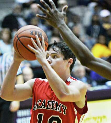 Albany Academy's #10Will Bennett during their Class A Federation Tournament Semifinal against Springfield Gardens at SEFCU Arena Friday March 27, 2015 in Albany, NY.  (John Carl D'Annibale / Times Union) Photo: John Carl D'Annibale / 00031188A