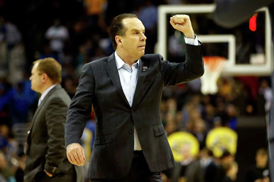 Notre Dame coach Mike Brey was on Duke's staff in 1991 when the Blue Devils stunned undefeated UNLV in the Final Four. Photo: Gregory Shamus / Getty Images / 2015 Getty Images