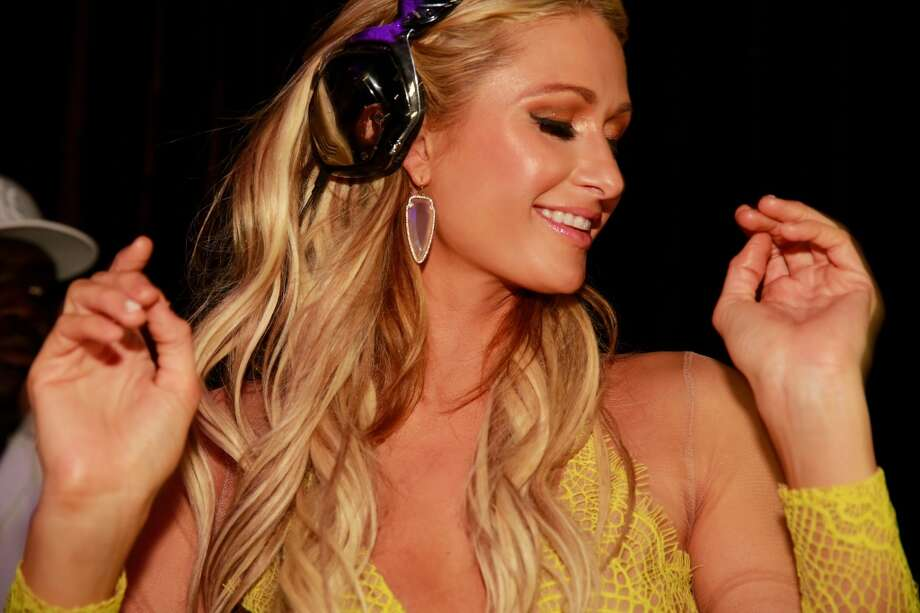 Paris Hilton DJ's at Cavalli Miami on March 23, 2015 in Miami Beach, Florida. Photo: Pierre Zonzon, Getty Images