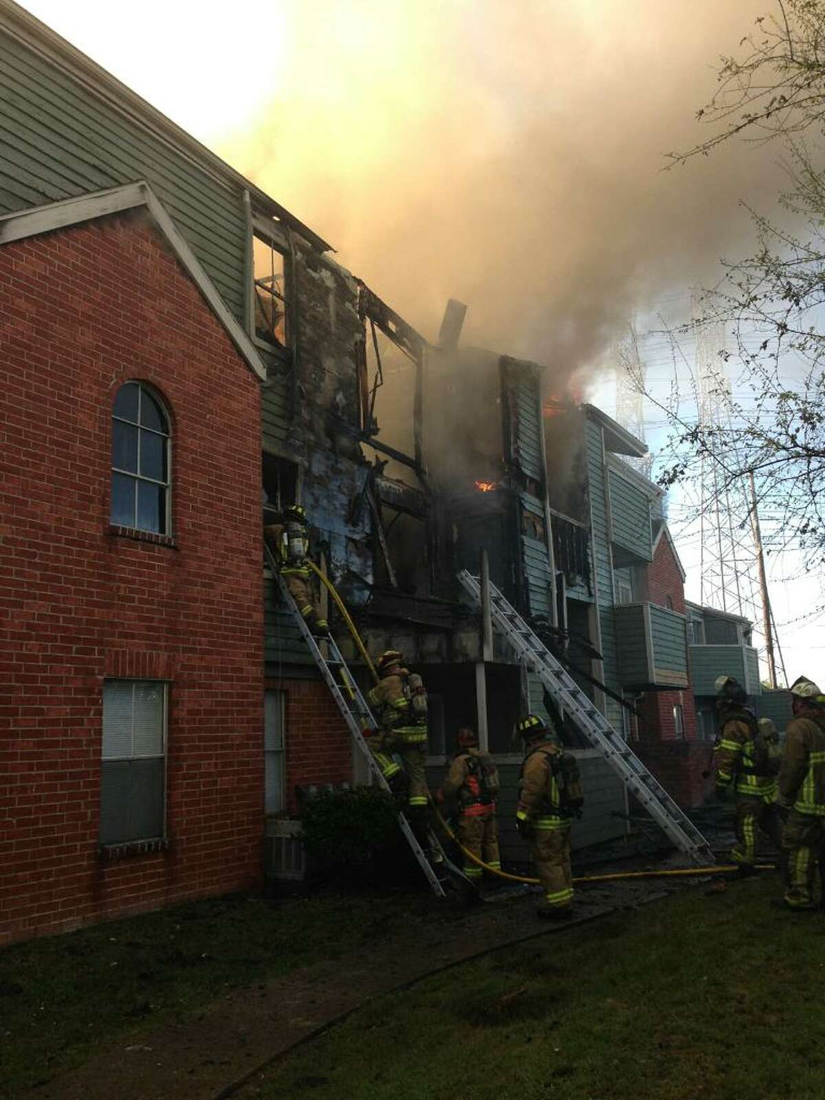 A fire was reported on Glenora Drive in the Cy-Fair are on Friday.