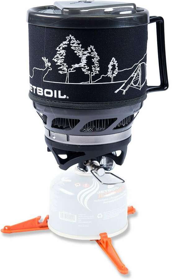 Jetboil MiniMo Cooking System A camper's dream, the MiniMo can taper a rolling boil down to a simmer (and keep it there consistently, in conditions down to 20 degrees Fahrenheit). The stove includes an insulating drink-through lid and a measuring cup and provides for sideways burner storage inside the cooking cup to minimize pack space. $129.95 at www.rei.com. Photo: Jetboil