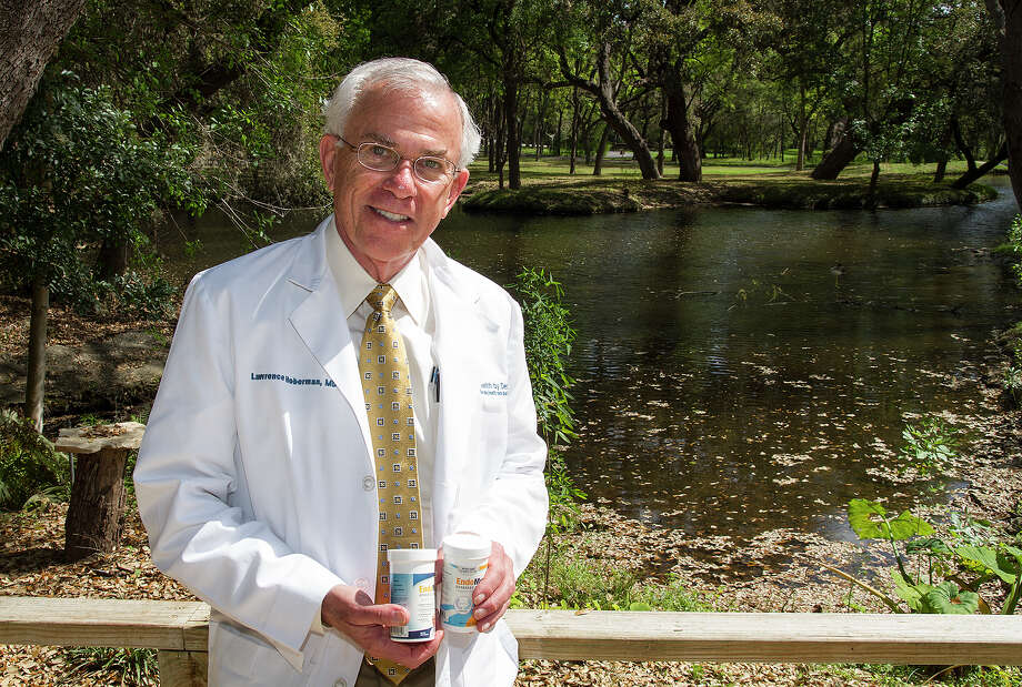 Dr. Lawrence Hoberman, a San Antonio gastroenterologist, developed EndoMune Advanced Probiotic in 2007 and built up its customer base with no outside investors. He showed off the product outside his office at Health By Design earlier this year. The latest addition to Hoberman's product line is EndoMune Jr. Chewable Probiotic for Kids, now sold in stores and online. Photo: Express-News File Photo / San Antonio Express-News