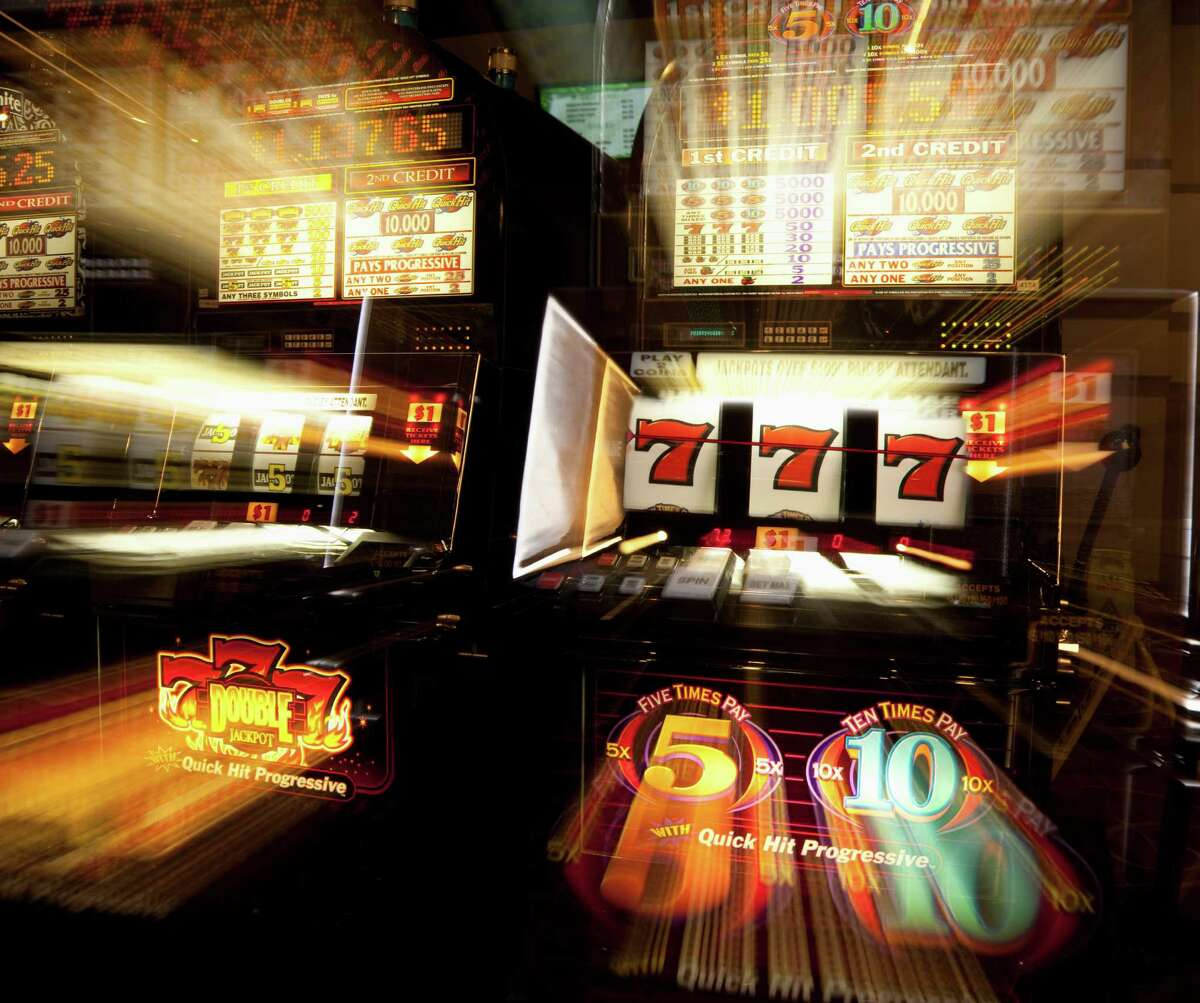 USA, California, Stockton, Casino slot machines