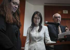 Ellen Pao during a brief statement after finding out that she lost her lawsuit against her former employer venture capital firm Kleiner Perkins Byers & Caufield at the San Francisco Superior Court in San Francisco on march 27th 2015.