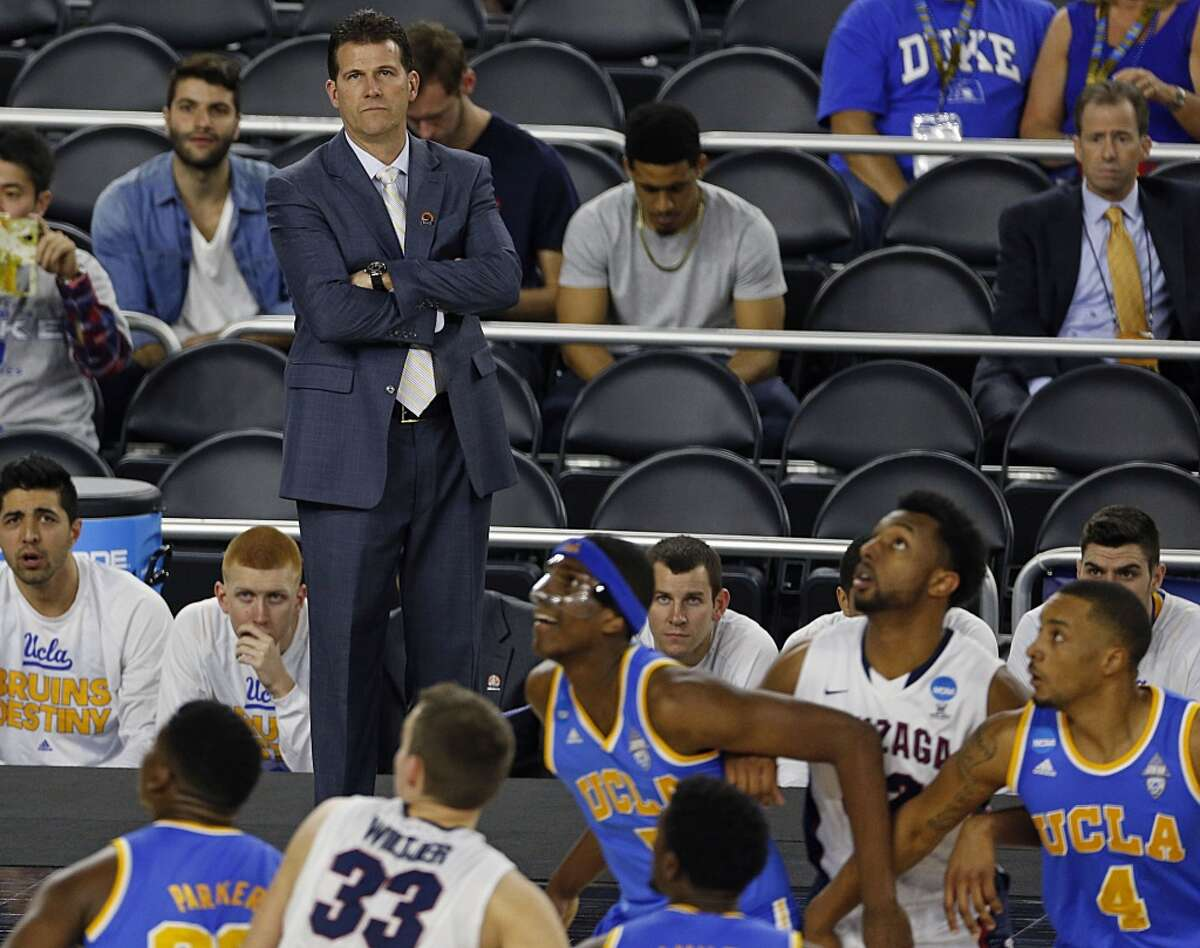 UCLA Bruins head coach Steve Alford during first half of the NCAA South Regional semifinal against the Gonzaga Bulldogs at NRG Stadium Friday, March 27, 2015, in Houston. ( James Nielsen / Houston Chronicle )