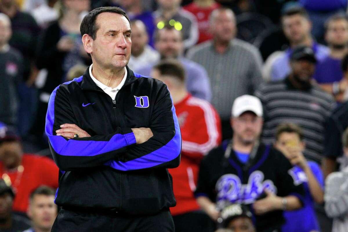 Coach Mike Krzyzewski leads a Duke program that usually ranks among the nation's best teams in college basketball each season.