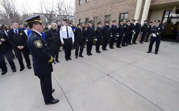 Retirement ceremony for Albany Police Chief Steven Krokoff, on Friday, March 27, 2015 at Police Headquarters, Henry Johnson Blvd., Albany. (Skip Dickstein/Times Union)
