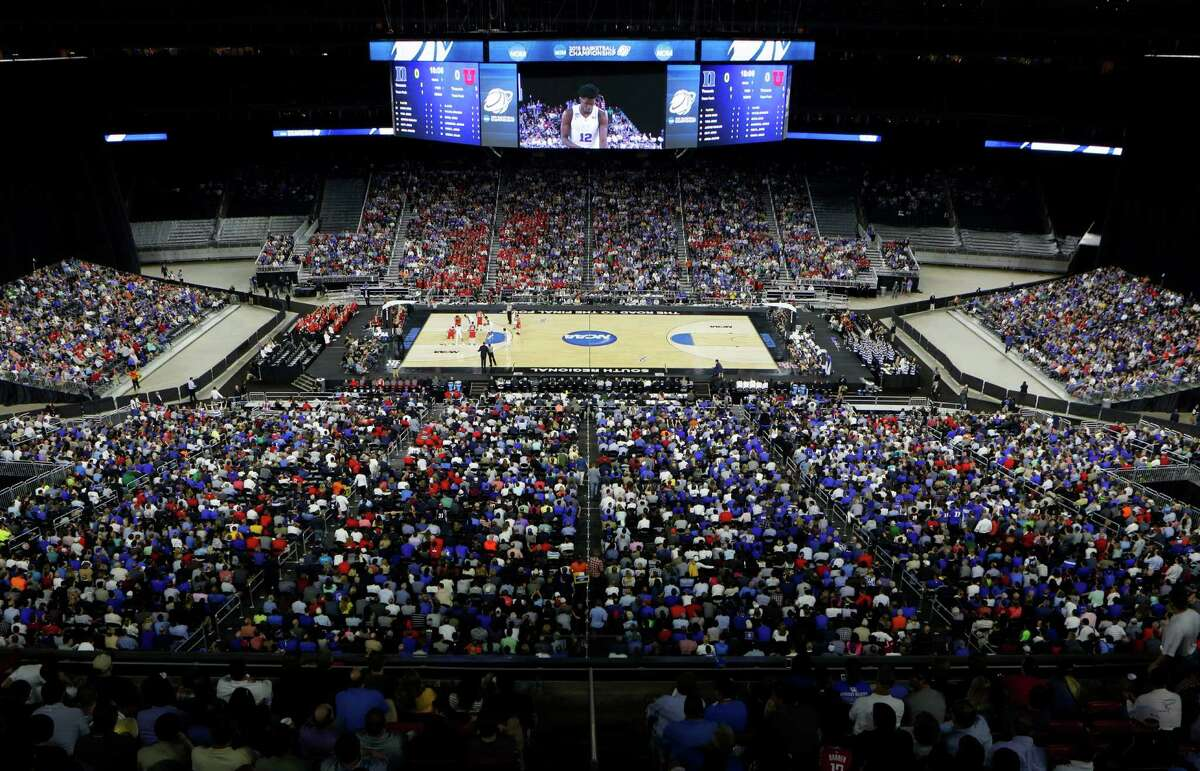 The first half of the NCAA South Regional semifinal game between Duke and Utah Friday, March 27, 2015, in Houston.