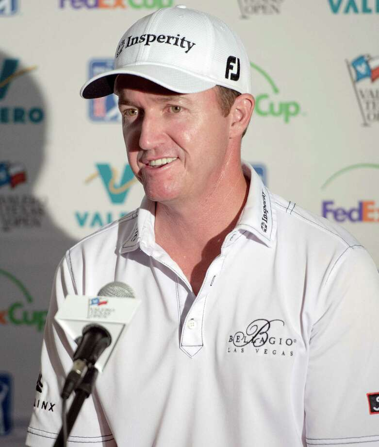 Jimmy Walker speaks at a news conference after the second round of the Valero Texas Open golf tournament, Friday, March 27, 2015, in San Antonio. (AP Photo/Darren Abate) ORG XMIT: TXDA107 Photo: Darren Abate / FR115 AP