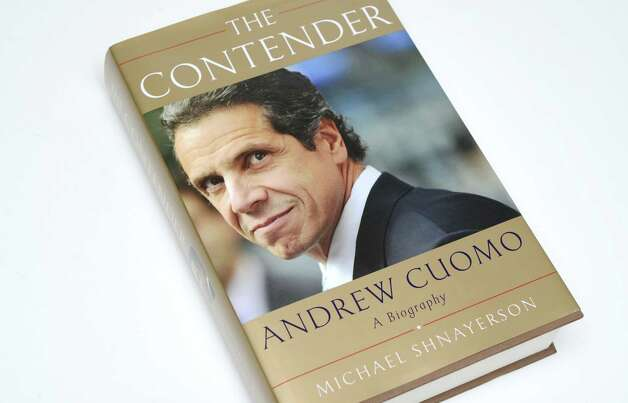 """The Contender,"" a biography about Andrew Cuomo by Michael Shnayerson Thursday, March 26, 2015, at the Times Union in Colonie, N.Y. (Will Waldron/Times Union) Photo: WW"