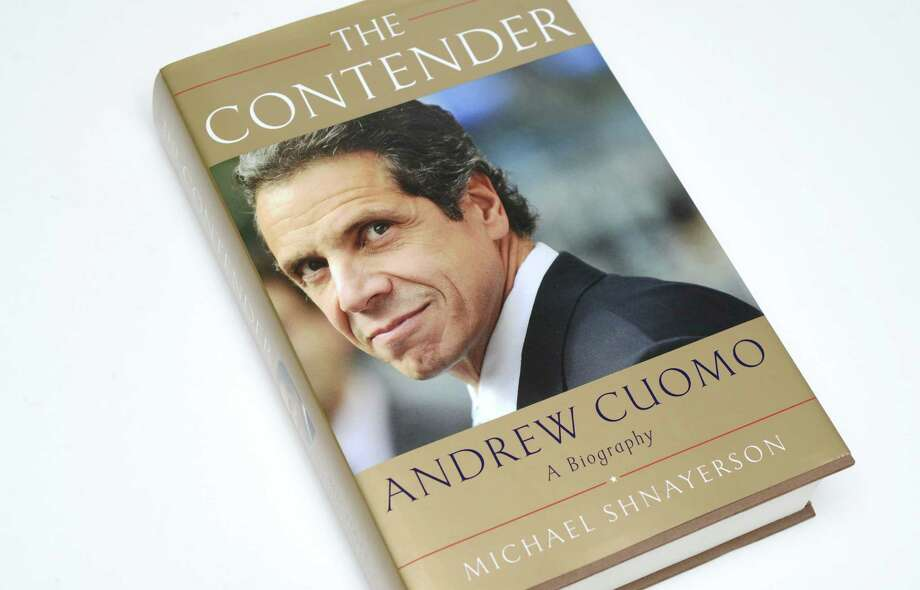 """""""The Contender,"""" a biography about Andrew Cuomo by Michael Shnayerson Thursday, March 26, 2015, at the Times Union in Colonie, N.Y. (Will Waldron/Times Union) Photo: WW"""