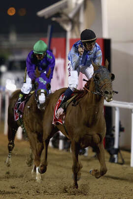 California Chrome could not catch Prince Bishop in the Dubai World Cup stretch run but still earned $2 million.
