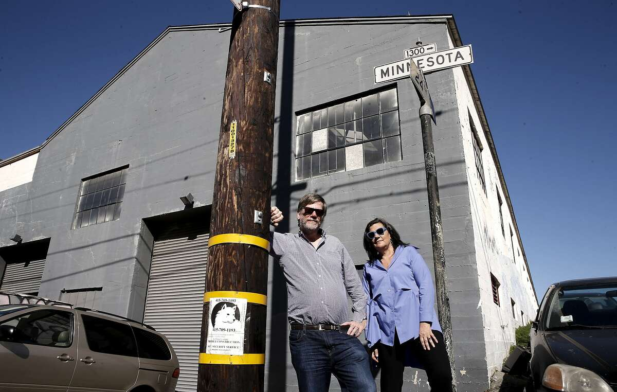 Husband and wife Andy and Deborah Rappaport, on Wed. March 18, 2015, at the warehouse they plan to turn into a two-story art gallery space.