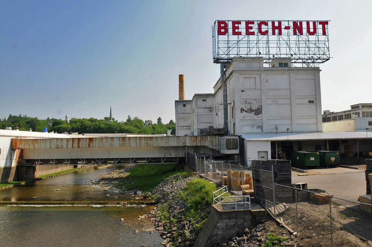 View of the Beech-Nut plant in Canajoharie, NY on Wednesday May 26, 2010. The main factory still remains while demolition has started on portions of the warehouses and smaller buildings. (Philip Kamrass/Times Union archive)