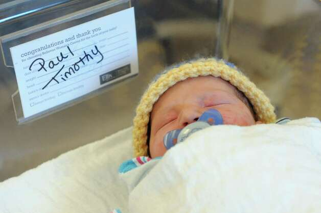 Baby Paul Timothy on Tuesday, March 24, 2015, at Bellevue Woman's Hospital in Niskayuna, N.Y. (Cindy Schultz / Times Union) Photo: Cindy Schultz / 00031160A