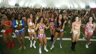 Go behind the scenes as 1,000 women vie for 35 open Texans cheerleader spots.