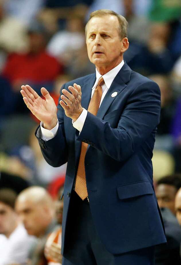 PITTSBURGH, PA - MARCH 19:  Head coach Rick Barnes of the Texas Longhorns reacts in the second half against the Butler Bulldogs during the second round of the 2015 NCAA Men's Basketball Tournament at Consol Energy Center on March 19, 2015 in Pittsburgh, Pennsylvania.  (Photo by Jared Wickerham/Getty Images) Photo: Jared Wickerham, Stringer / 2015 Getty Images
