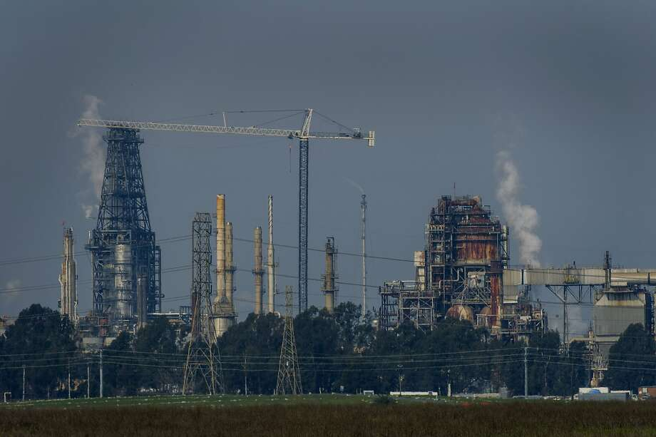 The Tesoro Corp. Golden Eagle Refinery stands in Martinez, California, U.S., on Monday, Feb. 2, 2015. One U.S. refinery is shutting while management takes control of operations at six others after union workers walked out of the plants in the biggest strike since 1980. Tesoro Corp. shut half of its 166,000-barrel-a-day Martinez plant in California that wasn't already idled for maintenance. Photographer: David Paul Morris/Bloomberg Photo: David Paul Morris, Bloomberg