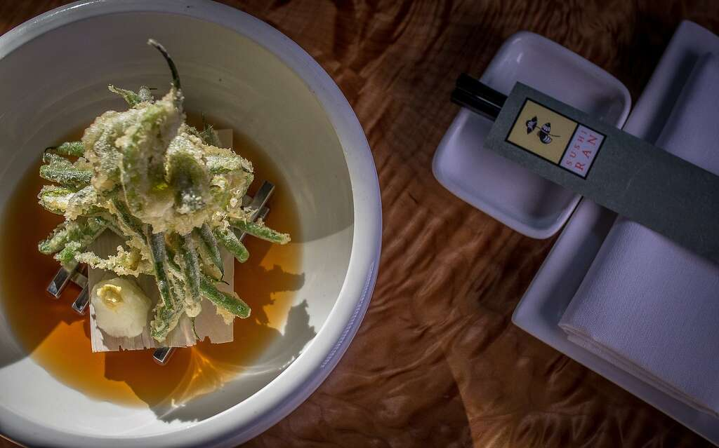 The seasonal Vegetable Tempura at Sushi Ran in Sausalito, Calif., is seen on