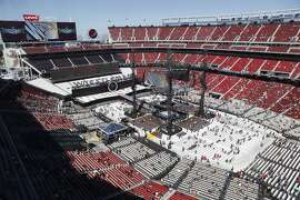 Fans begin to fill into their seats before Wrestlemania 31at Levi's Stadium in Santa Clara, Calif. Sunday, March 29, 2015.