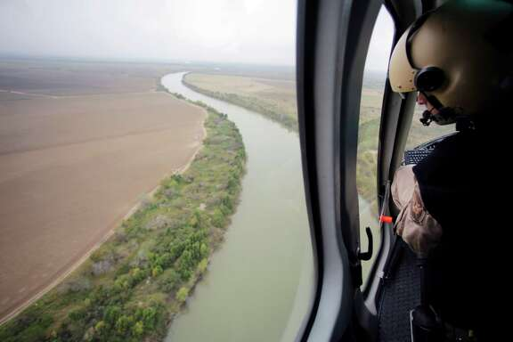 In this Feb. 24 photo, U.S. Customs and Border Protection Air and Marine agents patrol along the Rio Grande. Drowning deaths have spiked since fall.