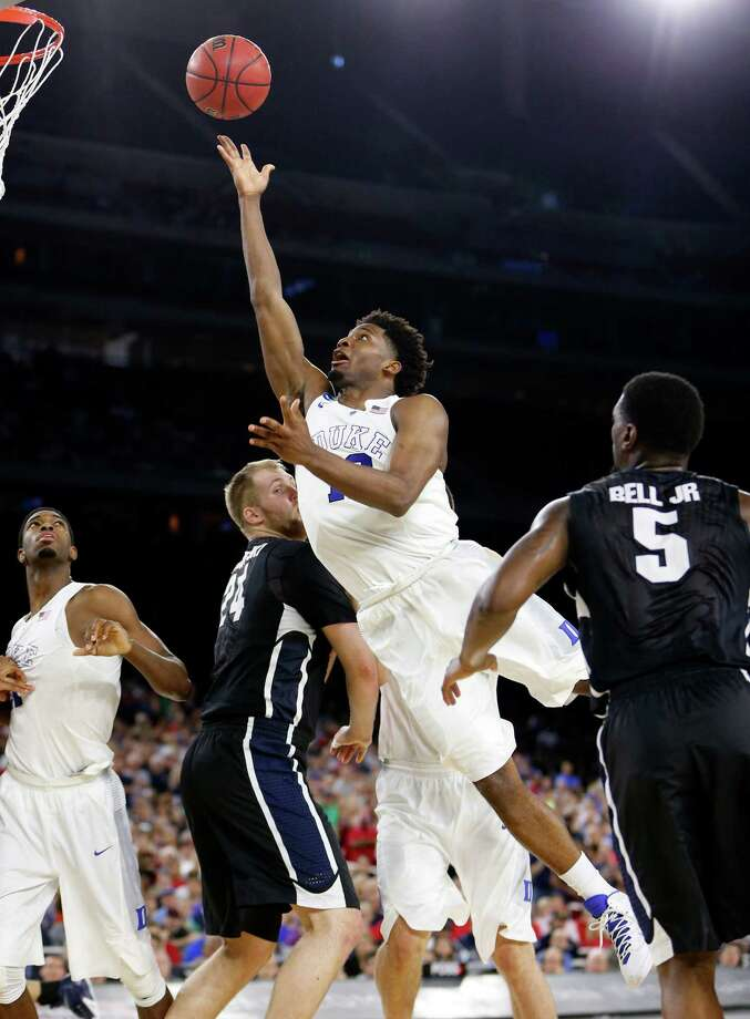 Playing in the South Regional was a homecoming of sorts for Duke freshman forward Justise Winslow (12), who scored 16 points in Sunday's victory over Gonzaga. Photo: Karen Warren, Staff / © 2015 Houston Chronicle
