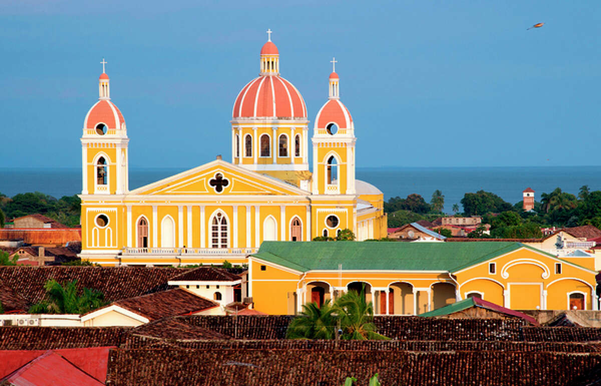 The cathedral in Granada, Nicaragua, is one of the colonial city's architectural gems.