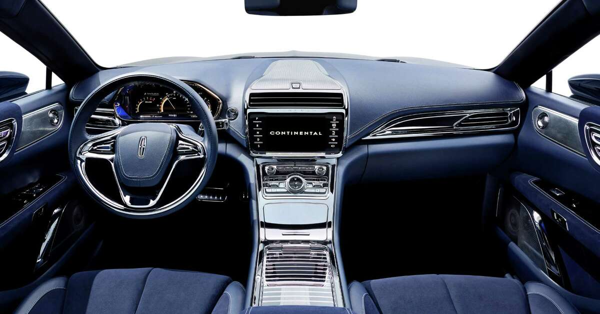 This product image provided by the Ford Motor Co. shows the interior of the new Lincoln Continental concept. Thirteen years after the last Continental rolled off a Michigan assembly line, Ford Motor Co. is debuting the new Continental in concept form at the New York Auto Show on Monday, March 30, 2015.The production version goes on sale next year.