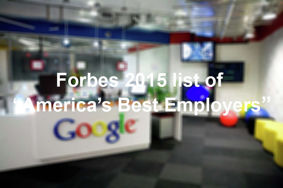 Forbes ranked the top American employers based on feedback from employees. Click through to see who made the top 20.