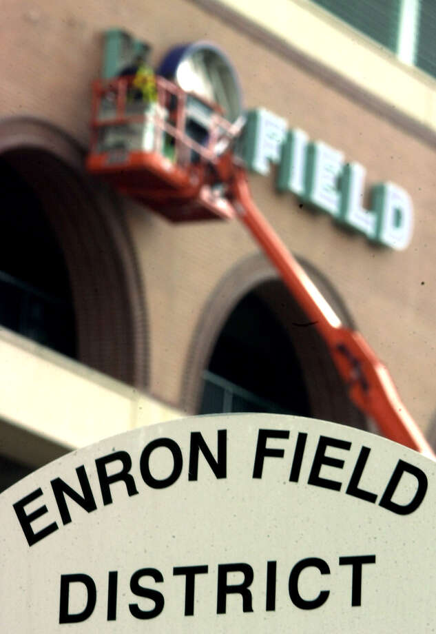 """MLB: Minute Maid Park, HoustonThe ballpark was called Enron Field when it opened in 2000, but after the energy company's collapse, the Astros bought back the naming rights in early 2002 and gave it the generic """"Astros Field"""" moniker before Minute Maid bought the naming rights that June. Photo: DAVID J. PHILLIP, AP / AP"""