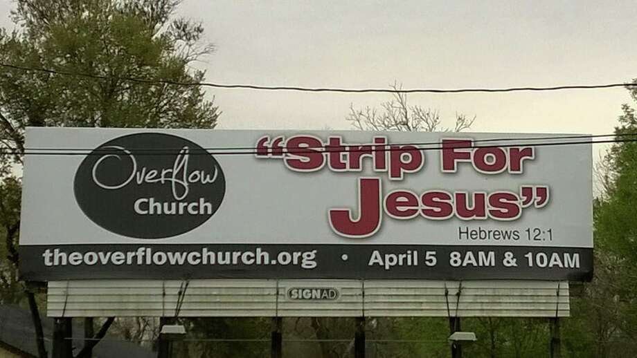 The billboard with the slogan that's turning heads. Photo: Courtesy/Facebook